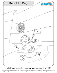 pinky republic day colouring page colouring pages for kids mocomi