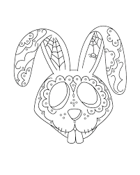 dia de los muertos skull coloring pages awesome coloring pages for