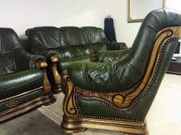green leather chesterfield sofa beautiful green leather hand carved chesterfield 3 seater sofa 3