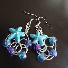 mermaid earrings handmade handmade mermaid earrings from kari s closet on poshmark