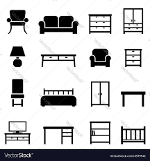 home furniture decor furniture and home decor royalty free vector image