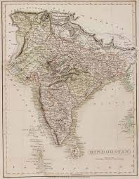 Indian Map Old Indian Map Image Gallery Hcpr