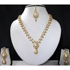 white necklace sets images White pearl kundan pearl layer necklace set smc bazaar jpg