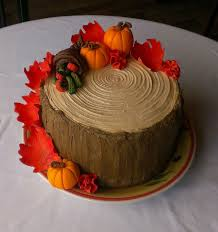 beautiful cake for thanksgiving or autumn gathering you
