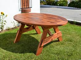 wonderful round picnic table with umbrella hole 40 with awesome