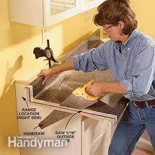 how to attach a countertop to a wall without cabinets how to install a countertop family handyman