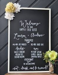 chalkboard wedding program wedding program board designs agency