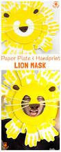 handprint and paper plate lion masks kids craft room