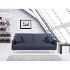 canap bleu gris beliani canapé convertible canapé lit en tissu bleu gris foncé
