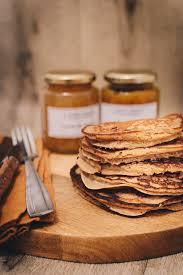 epicurien recettes de cuisine pancakes sans gluten à la farine de châtaignes et noix de coco
