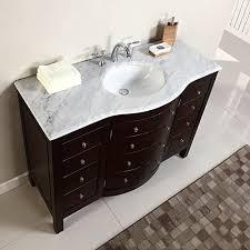 48 single sink white marble top bathroom vanity cabinet bath