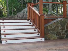 charming stair railing exterior design ideas for homes with solid