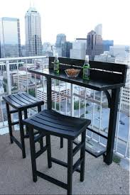 Patio Furniture Pub Table Sets - balcony chair and table design ideas for urban outdoors