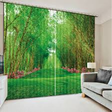 online get cheap bamboo livingroom aliexpress com alibaba group curtains for bedroom livingroom 3d window curtains 3d landscape bamboo of curtains backdrop china