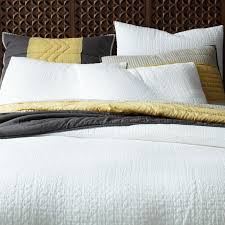 Organic Cotton Pintuck Duvet Cover Shams White Duvet Cover With Textured Floral Bead Trim Farmhouse For