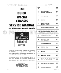 1965 buick special u0026 skylark repair shop manual original