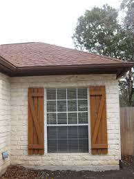 Home Window Decor Decor Diy Browm Exterior Cedar Shutters For Traditional Home