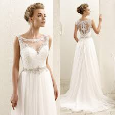 illusion neckline wedding dress discount white sleeveless lace illusion neckline plus size