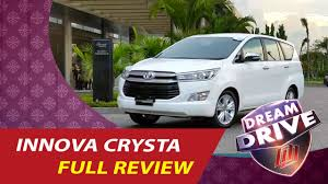 toyota website india toyota innova crysta review india features interior top