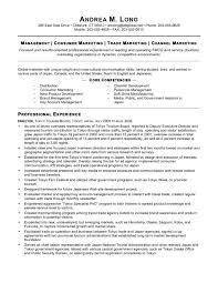 Sample Marketing Cover Letters Fmcg Resume Sample Marketing Director Resume Samples Trade