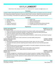 Nutritionist Resume Sample by Impactful Professional Wellness Resume Examples U0026 Resources