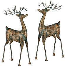 metal reindeer decorations set of 2 only 79 99 at garden