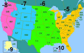 usa map with time zones and cities map of time zones usa map of usa states