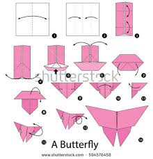 Step By Step Origami For - step by step how make stock vector 594576458
