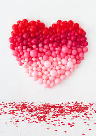 valentines day baloons ombre heart balloon backdrop