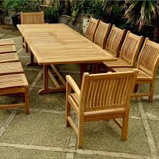 Teak Patio Dining Table Teak Valencia 12 Person Teak Patio Dining Set With