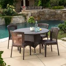 Patio Bar Table And Chairs Bar Height Patio Sets Wayfair