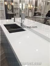 Glass Kitchen Countertops Pure White Nano Glass Kitchen Countertop White Nano Crystallized
