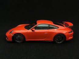 lava orange porsche porsche 911 gt3 type 991 phase ii 2017 lava orange 1 43 minichamps