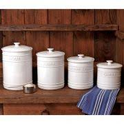 love red in the kitchen these are red pottery canisters for