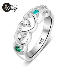 online get cheap heart birthstone rings aliexpress alibaba