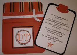 Graduation Card Invitation A Pocket Card College Graduation Announcement For Ut Stamping