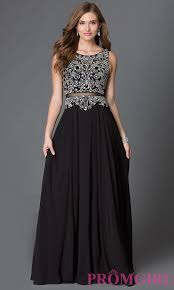 grad gowns mock two beaded prom dress promgirl