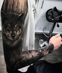 amazing wolf arm tattoo wolf tattoos pinterest arm tattoo