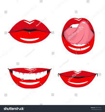 set vector red lips various types stock vector 463216736