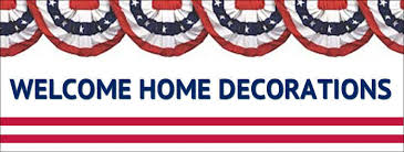 military welcome home decorations welcome home party decorations cheap with image of welcome home