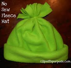 no sew fleece hat is an easy addition to an operation christmas