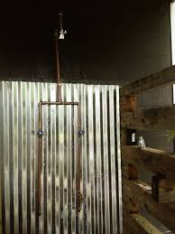 exposed copper pipe outdoor shower diy time pinterest pipes