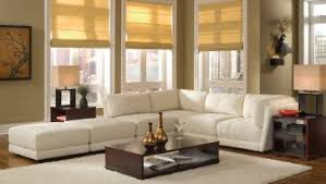 amazing white wall paint color l shaped brown fabric sectional