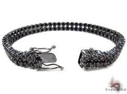 black diamonds bracelet images Black diamond prong bracelet mens diamond gold 10k round cut 7 00 ct jpeg