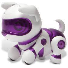 tekno robotic pets newborn puppy purple walmart com