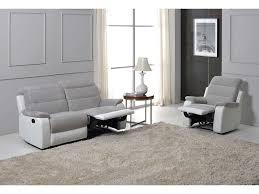 canap relax gris canape relax manuel bicolore 3 pl lenny coloris gris blanc prix