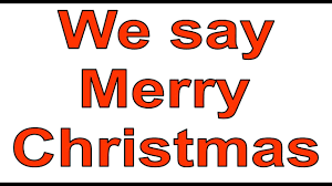 we say merry cnristmas card