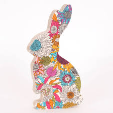 liberty print fabric bunny ornament by bombus notonthehighstreet
