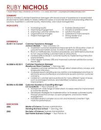 Manager Resume Examples Best Customer Experience Manager Resume Example Livecareer