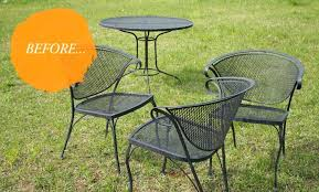 Wrought Iron Patio Tables Best Spray Paint For Wrought Iron Patio Furniture Srjccs Club